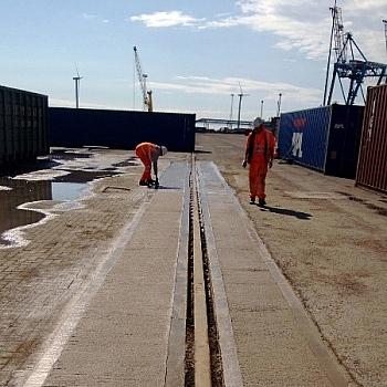 Crane rail repairs - May 2013